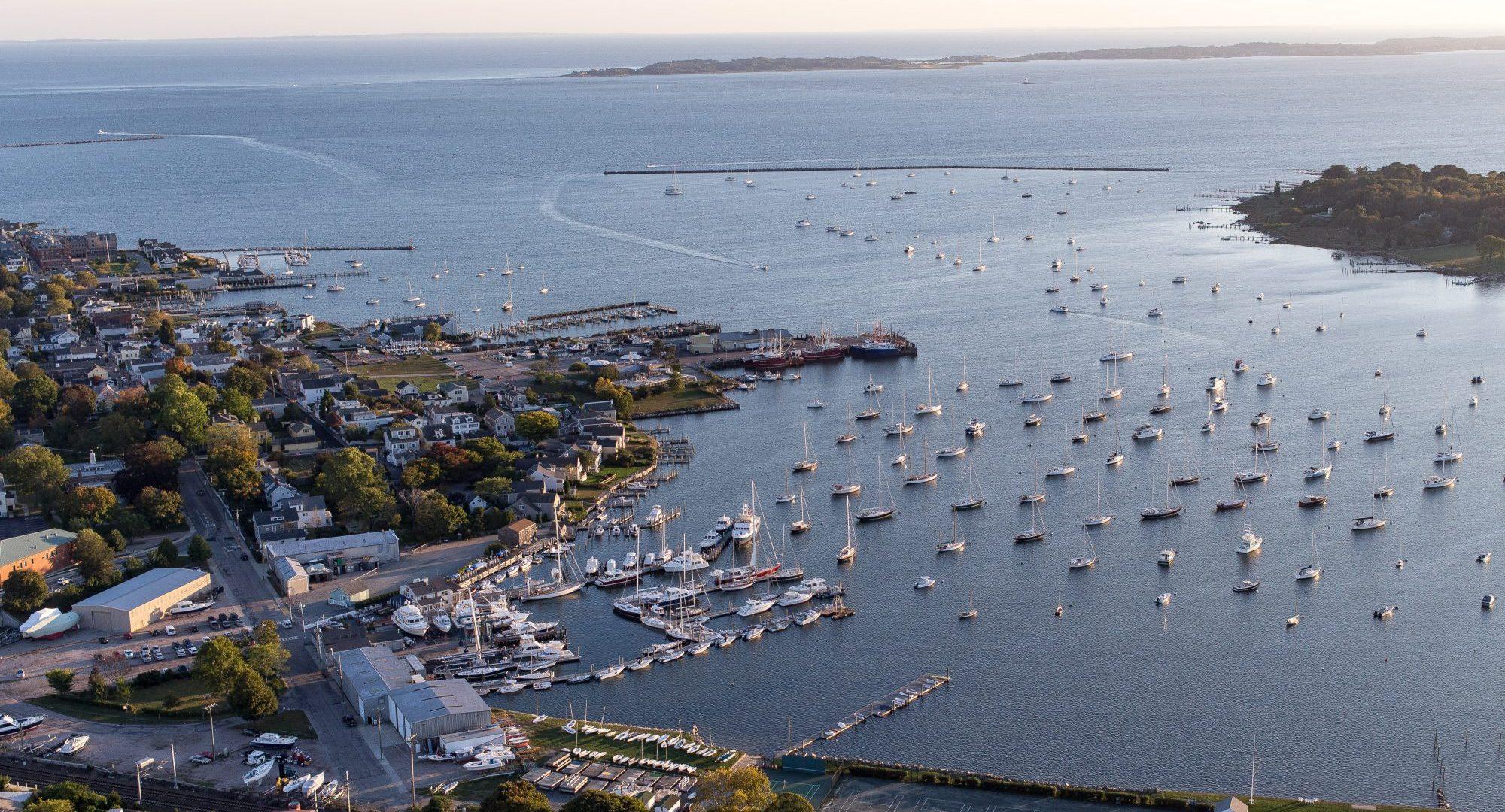 stonington yacht sales aerial